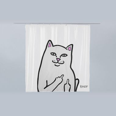 RIPNDIP Lord Nermal Shower Curtain Clear