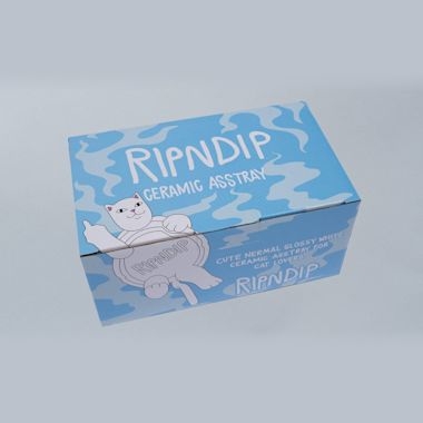 Second view of RIPNDIP Lazy Nerm Ceramic Ashtray White