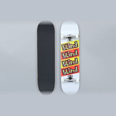 Blind 7.625 Incline FP Complete Skateboard White