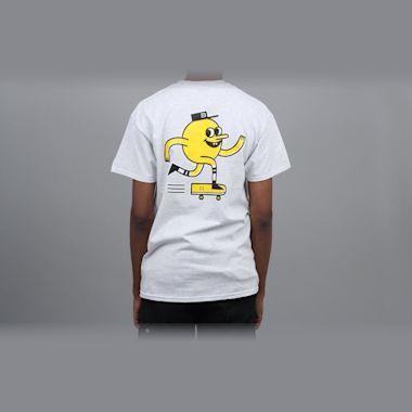 Blast Skates Mascot Logo T-Shirt Ash Grey