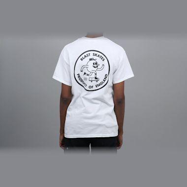 Blast Skates Round Logo T-Shirt White