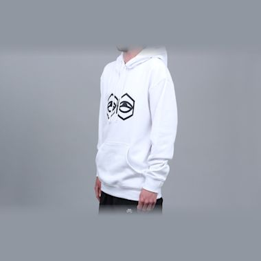 Second view of Jet Lag Brothers Hoodeye Hood White