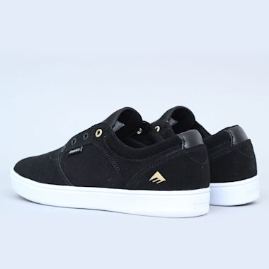 Second view of Emerica Figgy Dose Shoes Black / White / Gold