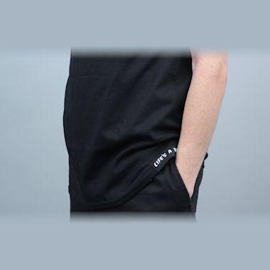 Second view of Life's A Beach Chest Logo T-Shirt Black / Black