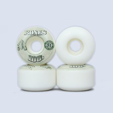 Bones 51mm OG 100's V4 Wheels White