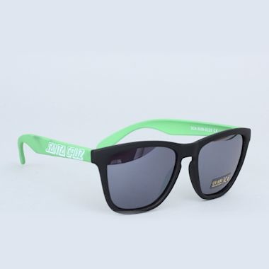 Santa Cruz Volley Sunglasses Black / Lime