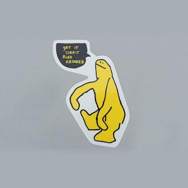 Krooked Get It Straight Sticker Yellow
