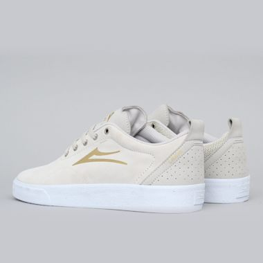 Second view of Lakai Bristol Shoes White / Gold Suede