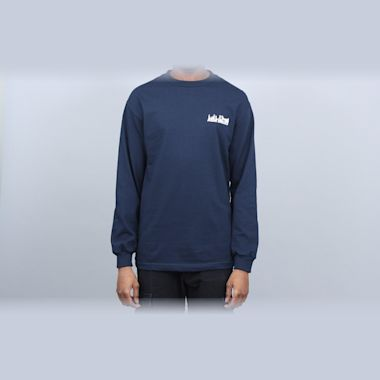 Second view of Alltimers Late Longsleeve T-Shirt Navy