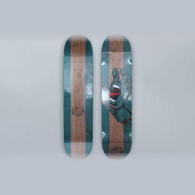 Santa Cruz 7.6 Stained Hand Skateboard Deck Blue