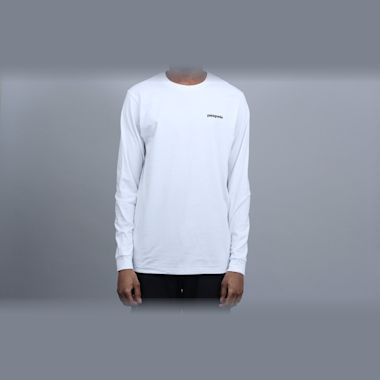 Second view of Patagonia P-6 Logo Responsibili Longsleeve T-Shirt White