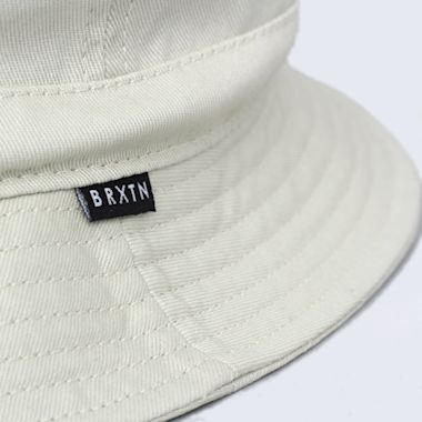 Second view of Brixton Banks II Bucket Hat Off White