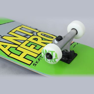 Second view of Anti Hero 7.5 Pigeon Hero Small Complete Skateboard Green