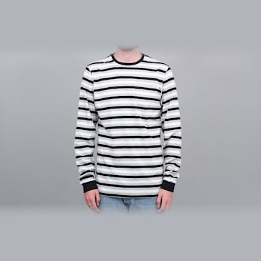 Civilist Striped Pocket Longsleeve T-Shirt Black / White / Grey