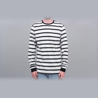 Civilist Striped Pocket Longsleeve T-Shirt Black / White / Grey