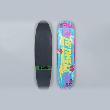 Krooked 7.5 Zip Zinger Piece Out Skateboard Deck Multi