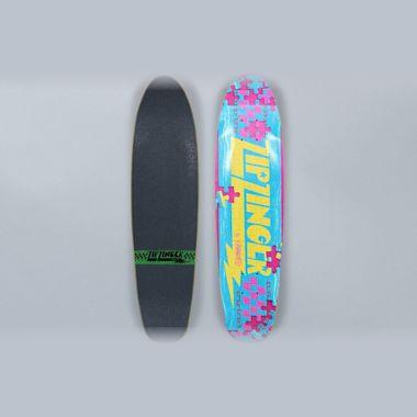 Krooked 7.5 Zip Zinger Piece Out Skateboard Deck Multi