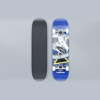 Birdhouse 7.38 Oversized Skull Stage 1 Complete Skateboard Blue
