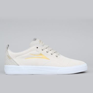 Lakai Bristol Shoes White / Gold Suede