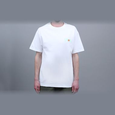 Second view of Alltimers Tropical Fantasy T-Shirt White
