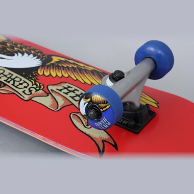 Second view of Anti Hero 7.38 Classic Eagle Mini Complete Skateboard Red
