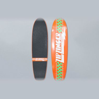 Krooked 7.5 Zip Zinger Classic Orange Skateboard Deck