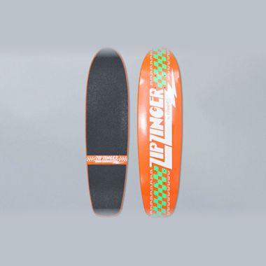 Krooked 7.5 Zip Zinger Classic Orange Skateboard Deck