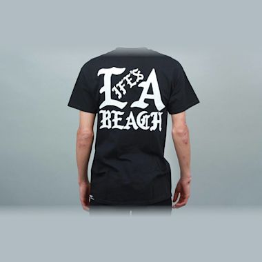 Second view of Life's A Beach Gang T-Shirt Black