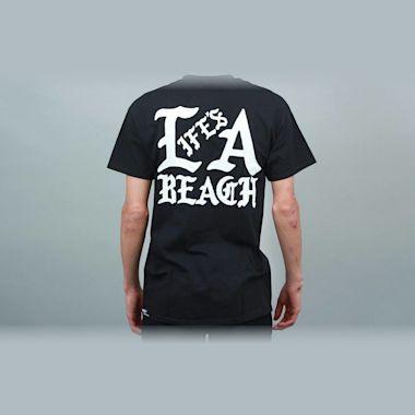 Second view of Life's A Beach Gang T-Shirt Black