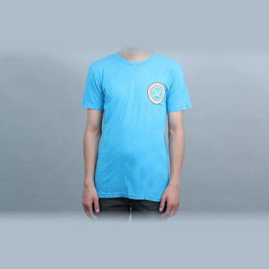 Fourstar 96 Circle Foam Wash T-Shirt Cyan