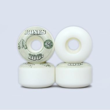 Bones 54mm OG 100's V4 Wheels White