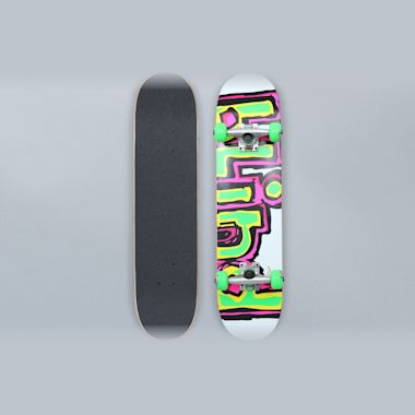 Blind 7 Matte OG Logo Youth Complete Skateboard White / Green