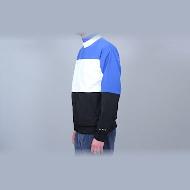 Second view of Grand Collection Nylon Jacket White / Blue