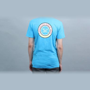 Second view of Fourstar 96 Circle Foam Wash T-Shirt Cyan