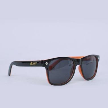 Glassy Leonard Black / Orange Sunglasses