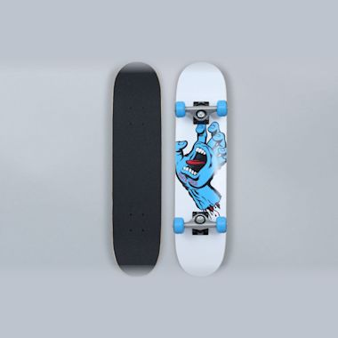 Santa Cruz 6.75 Screaming Hand Sk8 Complete Skateboard White