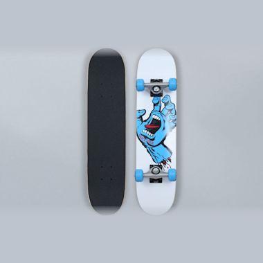 Santa Cruz 6.75 Screaming Hand Sk8 Complete Skateboard White