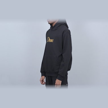 Second view of Dime Classic Logo Hood Black