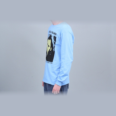 Second view of 917 Maxwell Palmer Longsleeve T-Shirt Blue