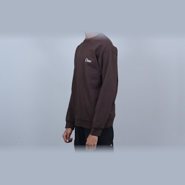Second view of Dime Classic Logo Crew Brown