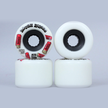 Bones 59mm Rough Riders Shotgun ATF Wheels White