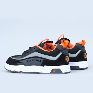 Second view of DC Legacy 98 Slim Shoes Black / Orange / Grey