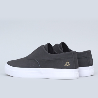 Second view of HUF Dylan Slip-On Shoes Black / Black