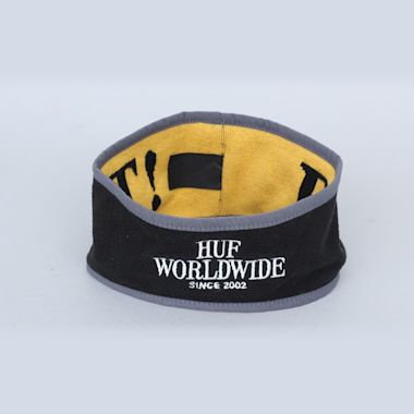 HUF Reversible Ear Warmer Black