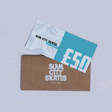 Slam City Skates Gift Voucher Card £50 Physical