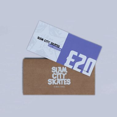 Slam City Skates Gift Voucher Card £20 Physical