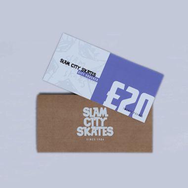 Slam City Skates Gift Voucher Card £20 Physical