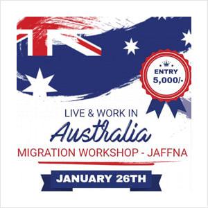 Live work in Australia - Migration WorkShop in Jaffna