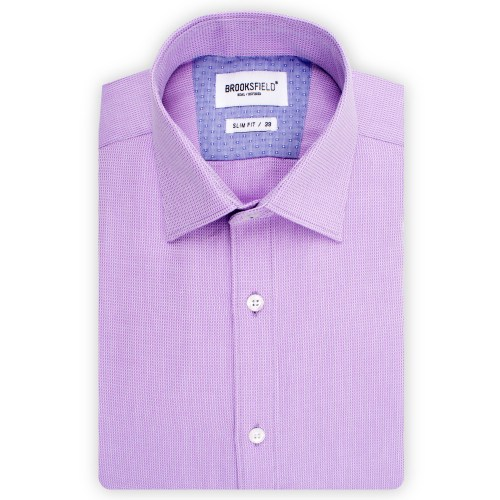 Brooksfield Plain Textured Shirt BFC1502 colour: LILAC