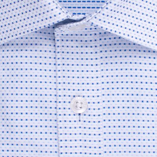 Enlarge  BROOKSFIELD Mens Career Micro Cross Dobby Shirt BFC1505 BLUE